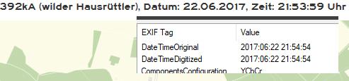 Uhrzeit in den EXIF-Angaben